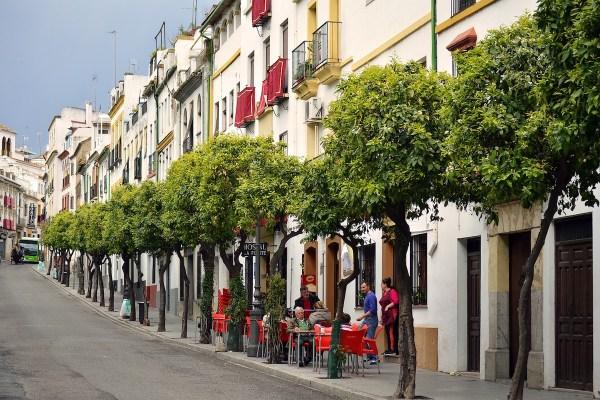 Walking around Cordoba in Spain