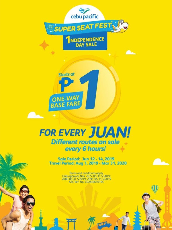 Cebu Pacific Independence Day Piso Fare