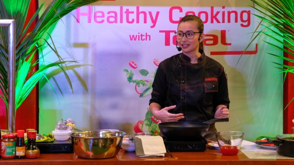 Chefmom Rosebud Benitez shared her quick and healthy recipes all created with Tefal's Titanium Expertise range, as well as tips on getting on-track with healthy eating.