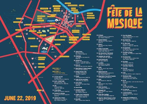 Fete de la Musique Map Manila Bars
