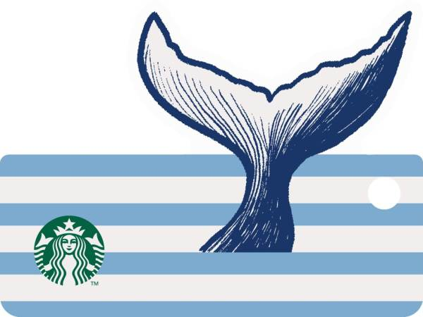 Starbucks Nautical Whale Card