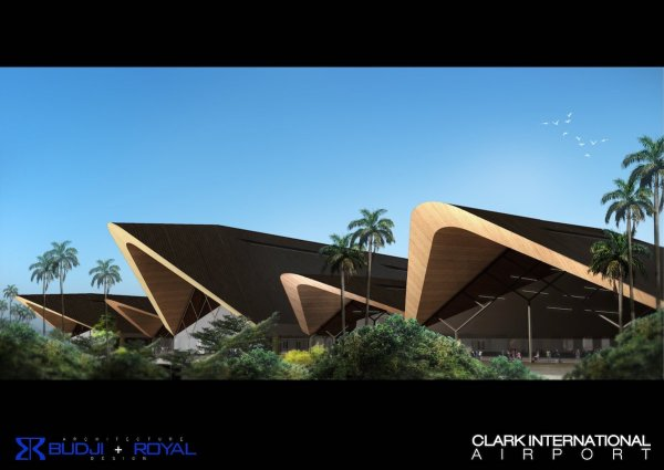 Clark International Airport Exterior Warm tropical tones make the structure blend with the landscape.