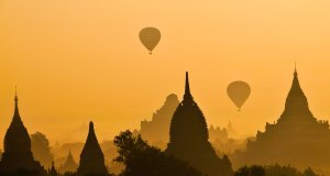Sunrise in Bagan Myanmar photo by Charlie Costello via Unsplash