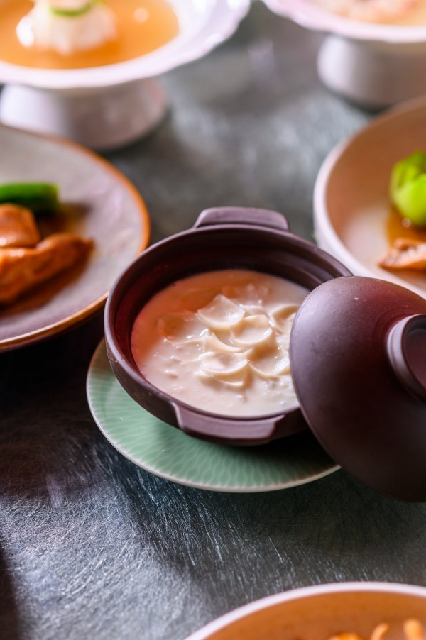 Sweetened Almond Cream with Egg White and Lily