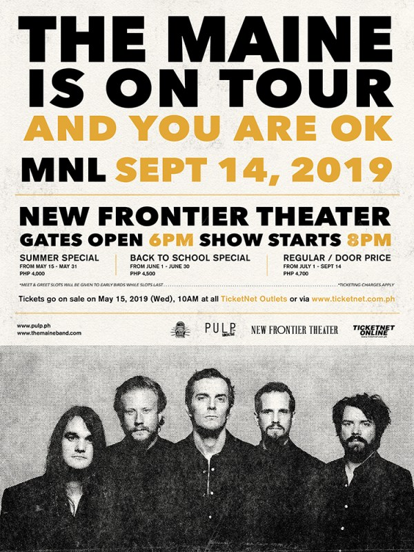The Maine Concert in Manila 2019