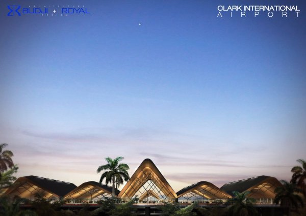 The New Clark International Airport Illustration shows how the Mt. Arayat, Mt. Pinatubo terrain, and Sierra Madre, the biggest mountain range in the country, serves as inspiration of the wavy silhouette of the new Clark International Airport terminal 2.