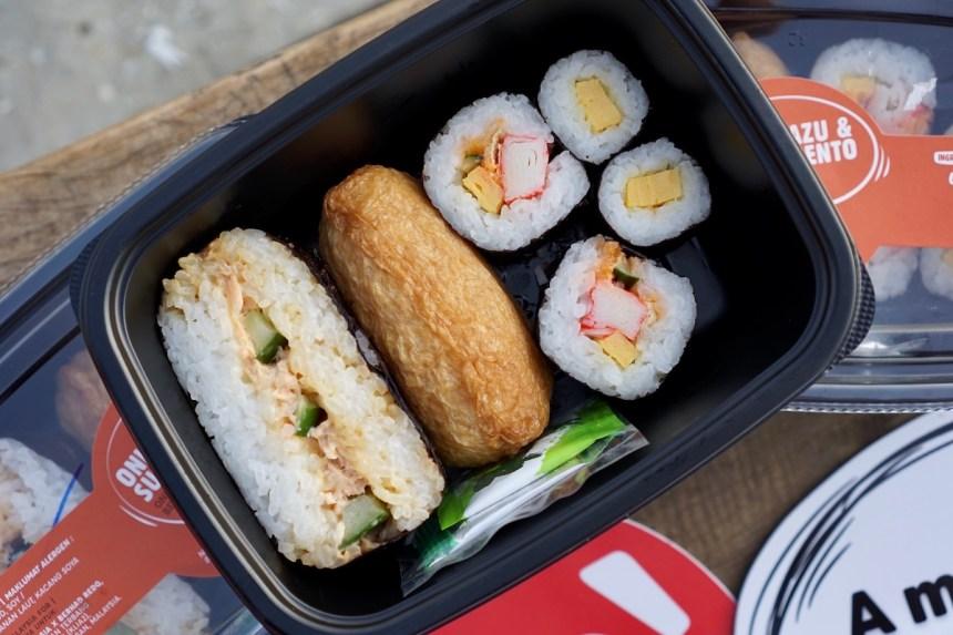 AirAsia Onigirazu and Sushi Bento