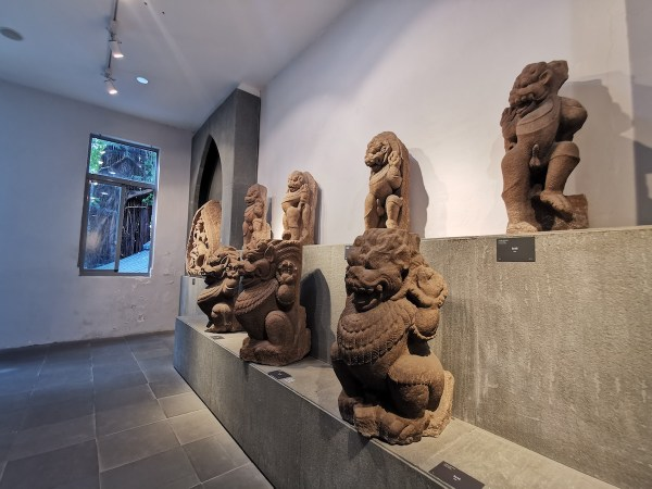 Cham Lion Sculptures