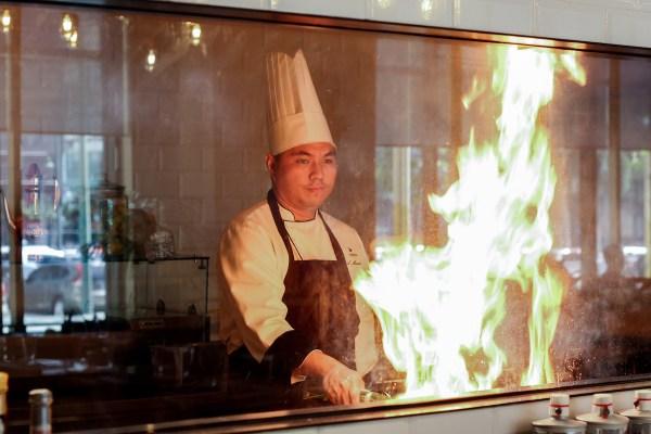 Chef Andrew Manabat of Seda BGC in the Misto show kitchen