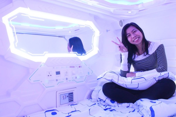 Inside the Japanese-style Capsule Room