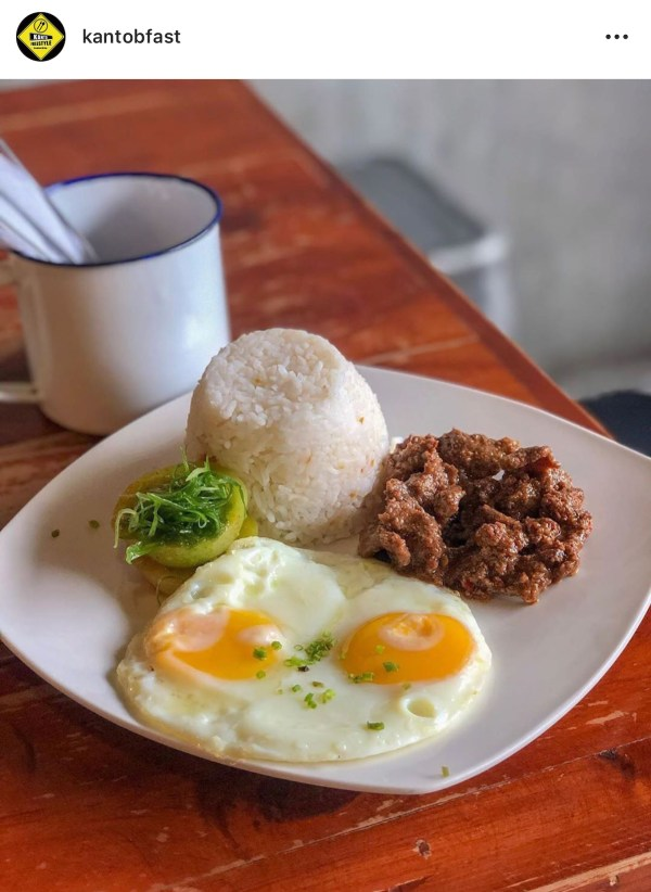 Kanto Freestyle Breakfast's New Zealand Beef Tapa remains a stomach pleaser. Photo courtesy of @kantobfast