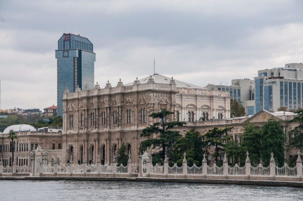 The sprawling Dolmabahce Palace served as the administrative center of the Ottoman Empire in the 1800s.