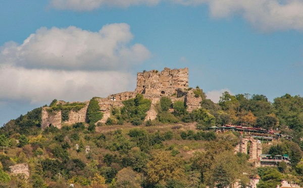 The Yoros Castle sits on top of the hill with great views of the waterway.