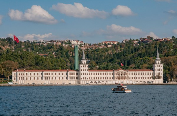 The Kuleli Military High School stands serenely on the Asian side of the strait.