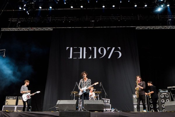 The 1975 performing in Bilbao Spain photo by Begona via Wikipedia CC