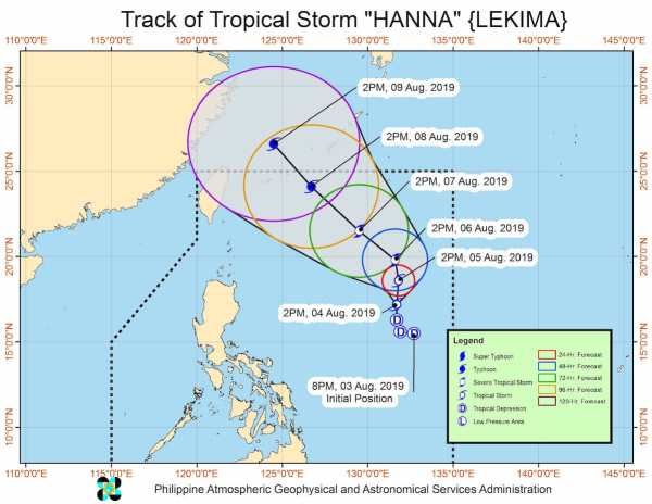 Tropical Depression Hanna - August 7 Weather Updates