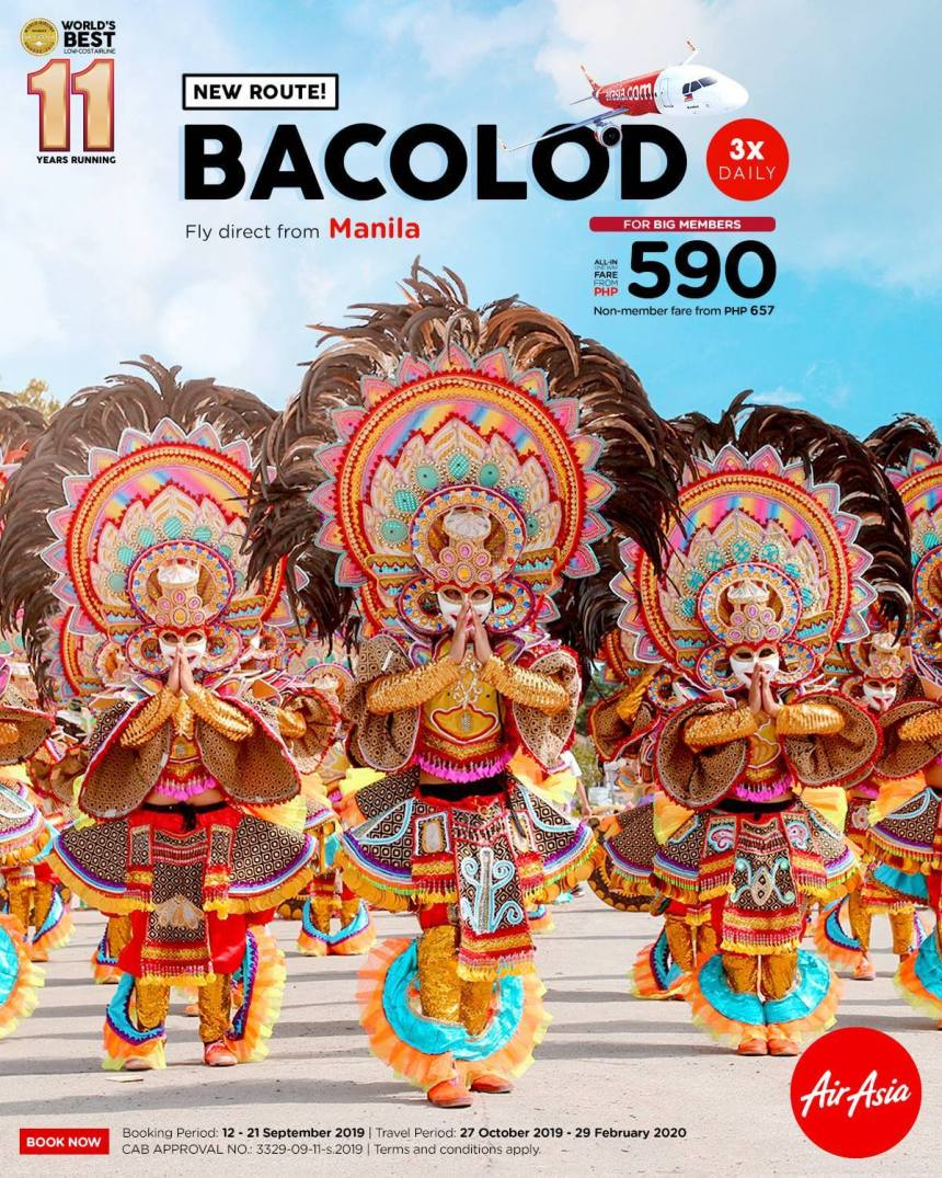 AirAsia now offers Manila – Bacolod Flights