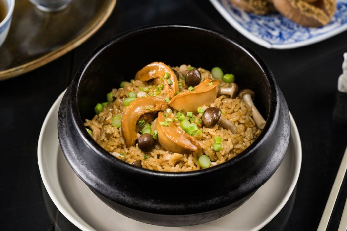 Braised Abalone Fried Rice with Wild Mushroom