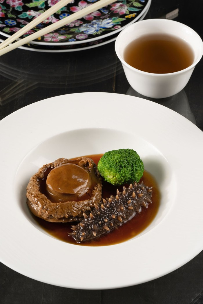 Braised South African Dried Abalone with Japanese Sea Cucumber