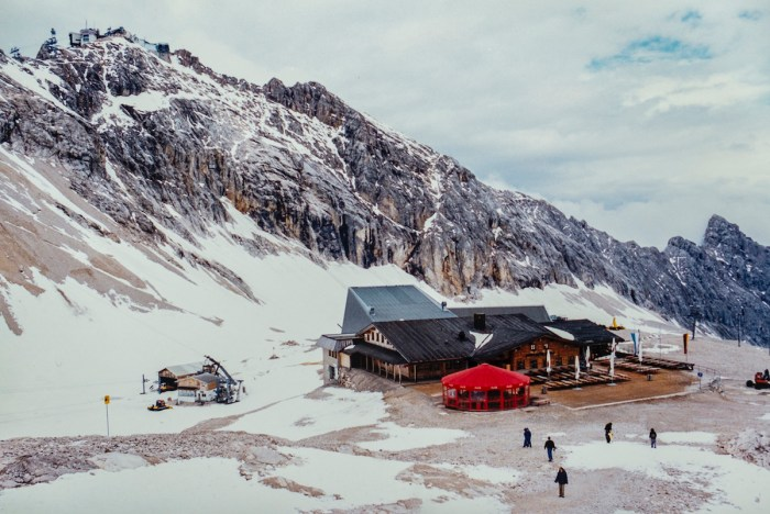 It was so cold at the top of the Zugspitze, Germany's tallest mountain in Garmisch-Partenkirchen.