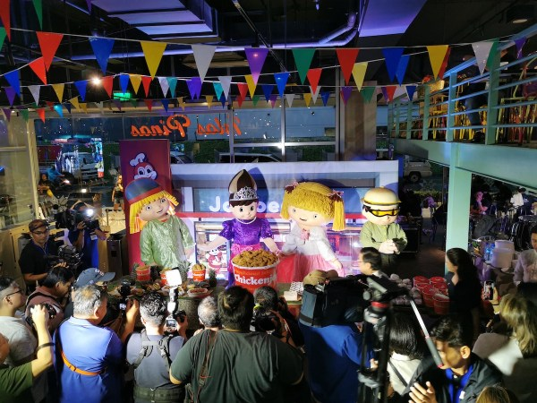 Jollibee Mascots during the Food Tourism Campaign Launch