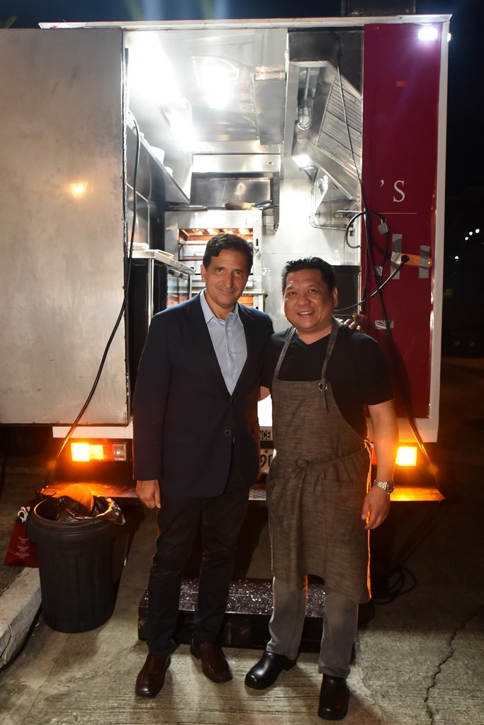 Peter Zwiener, President and Managing Partner Wolfgang's Steakhouse Globally with Chef Chris Oronce, Executive Chef of Wolfgang's Steakhouse Philippines