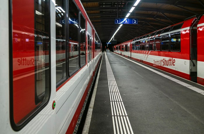 This is the terminal of the Glacier Express trains leaving Zermatt early in the morning headed for St. Moritz, a slow journey of 9 hours.