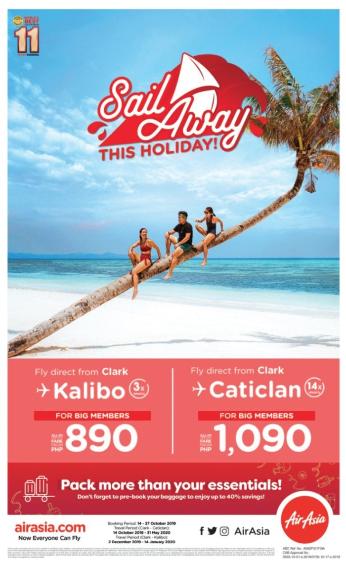 AirAsia adds flights from Clark to Kalibo and Caticlan