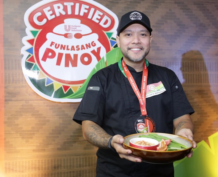 Certified Funlasang Pinoy Grand Winner Chef Victor Barangan