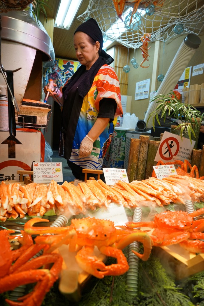 Crab Sticks at Nishiki Market