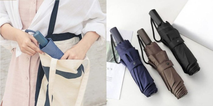 Folded umbrellas now allowed in carry-on bags on flights - images via Xiaomi