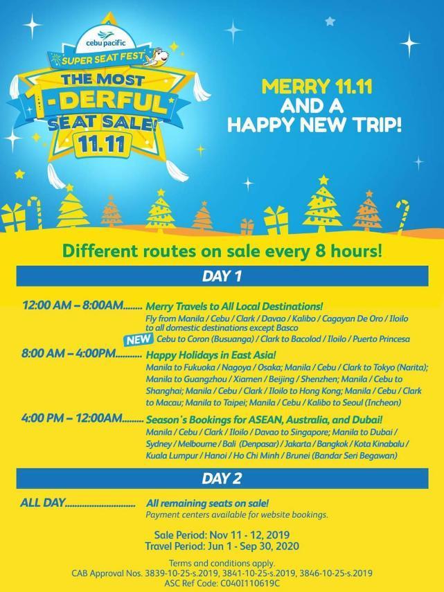 Cebu Pacific's 11.11 Seat Sale
