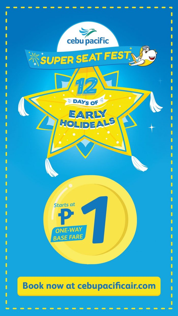 Cebu Pacific's Most 1-derful 11.11 Seat Sale for everyJuan!