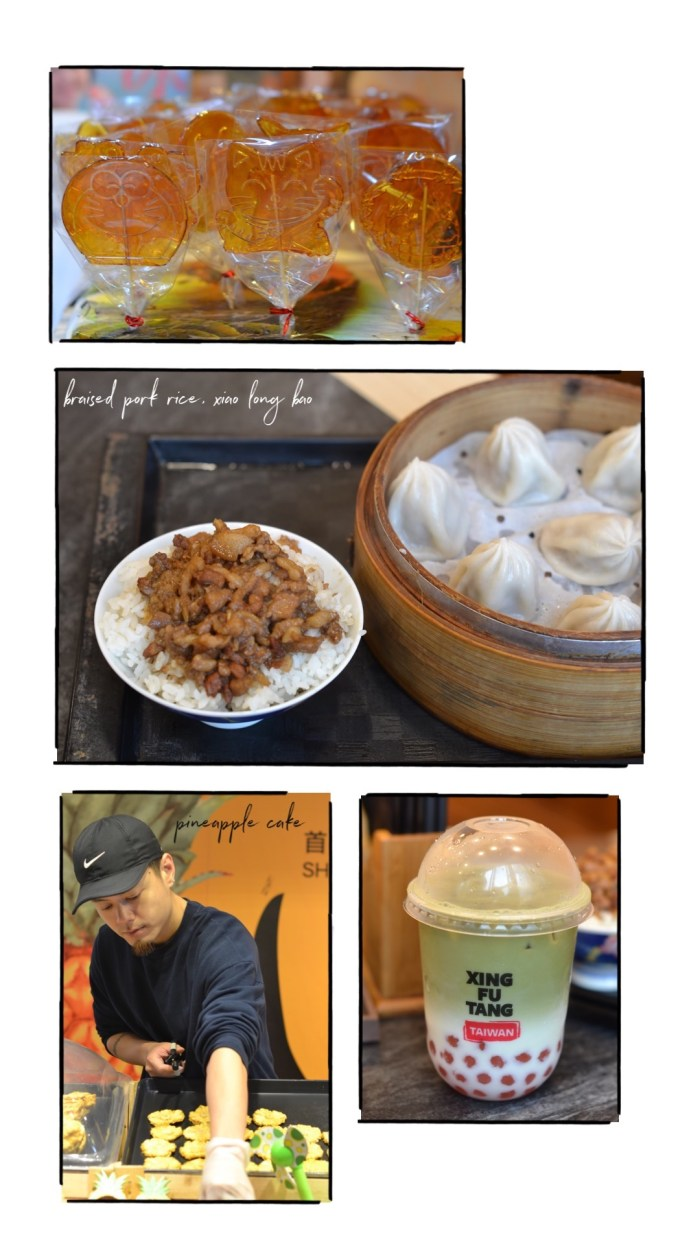 Food finds at Jiufen_ Molded candies, pork fried rice, pineapple cakes and Xin Tai Fung milk tea