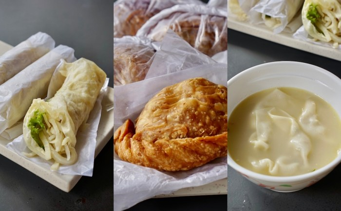 Lumpiyang Hubad, Empandada Kaliskis and Molo Soup