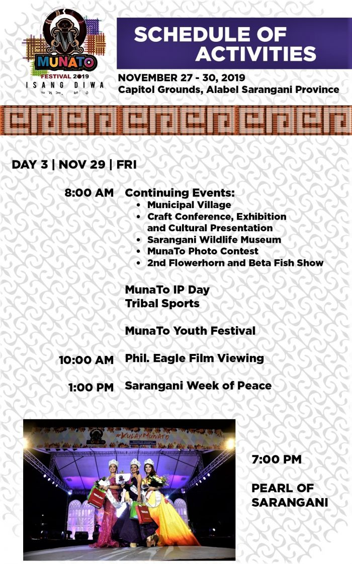Munato Festival Schedule of Events