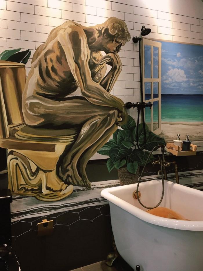 Mural outside Modern Toilet