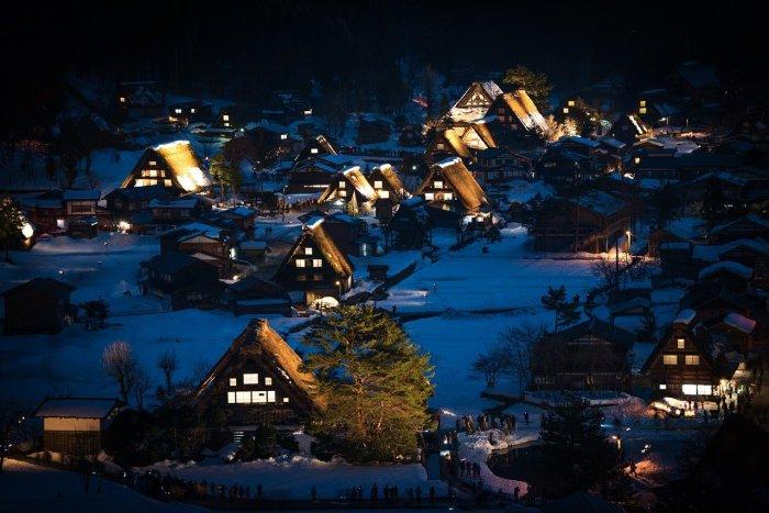 Winter in Shirakawa-go Japan