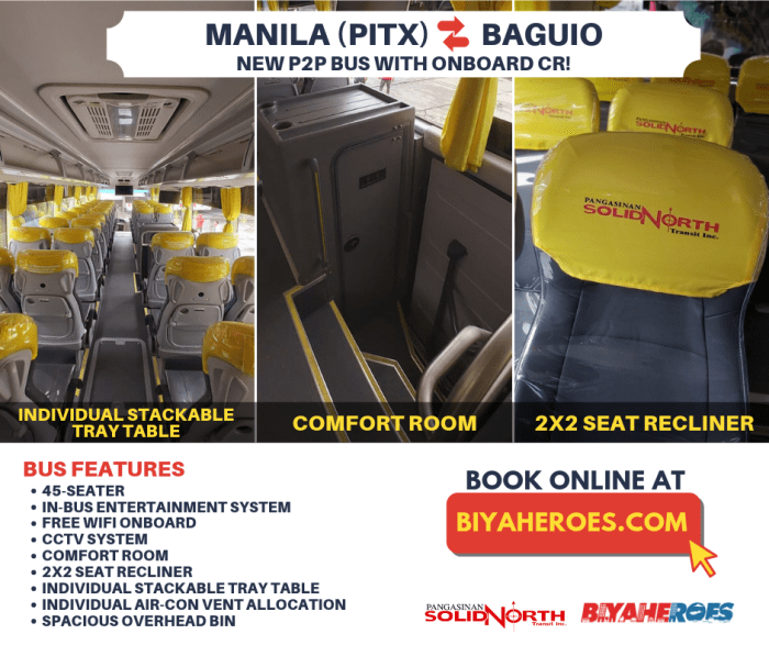 Premium Point-to-Point Bus to Baguio City via Pangasinan Solid North Transit