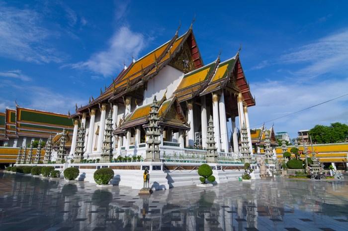 Beautiful Temple in Bangkok Wat Suthat, Thailand.