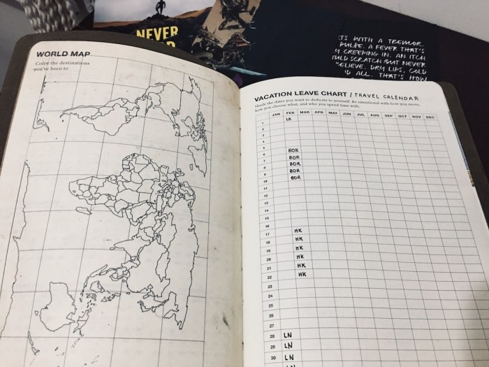 World Map inside Where to Nxt Planner 2020