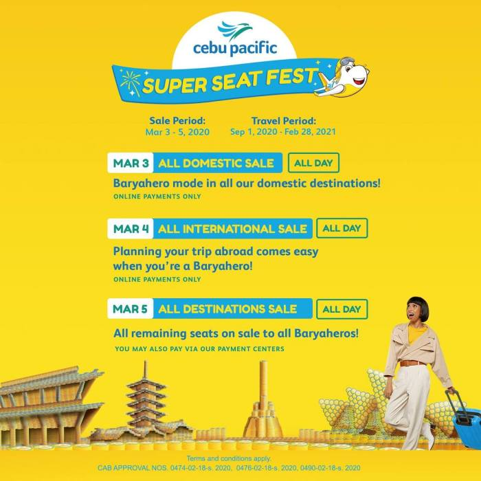 Cebu Pacific Super Seat Fest 2020