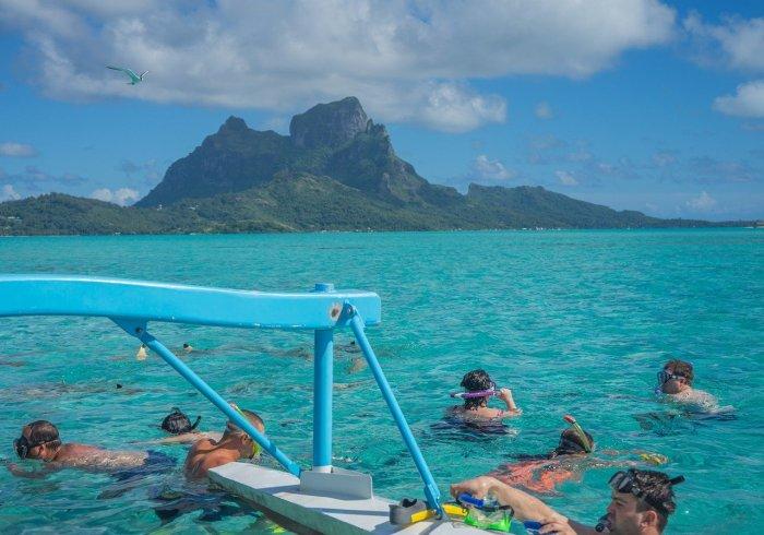 Snorkeling in Bora Bora
