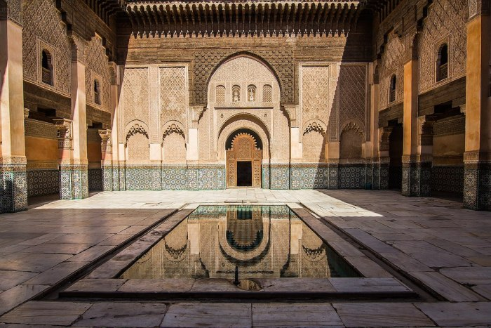 Ben Youssef Madrasa by Wolfgang B via Wikipedia CC
