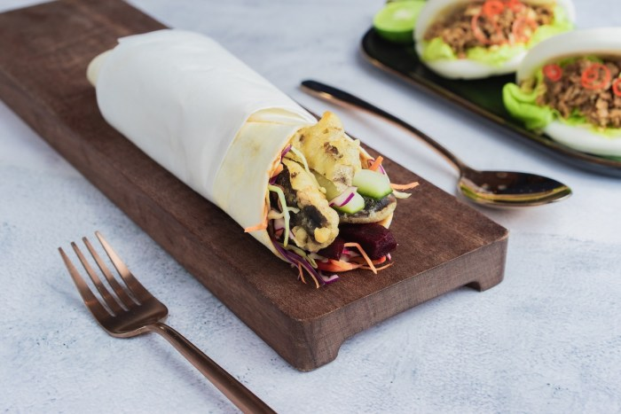 Crispy Vegetable Fritter Wrap