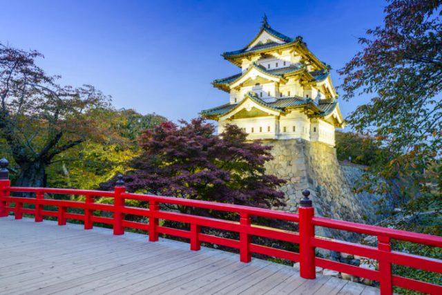 Hirosaki Castle photo via Depositphotos