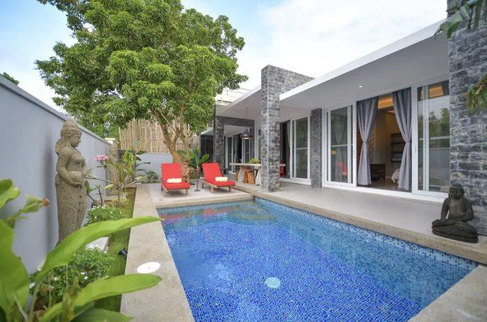 Private pool Airbnb Luxury Villa Onyx Boracay