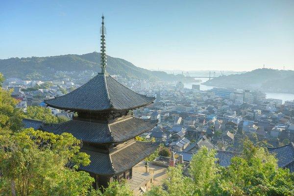 View from Senkoji Temple_Townscape around Onomichi Channel