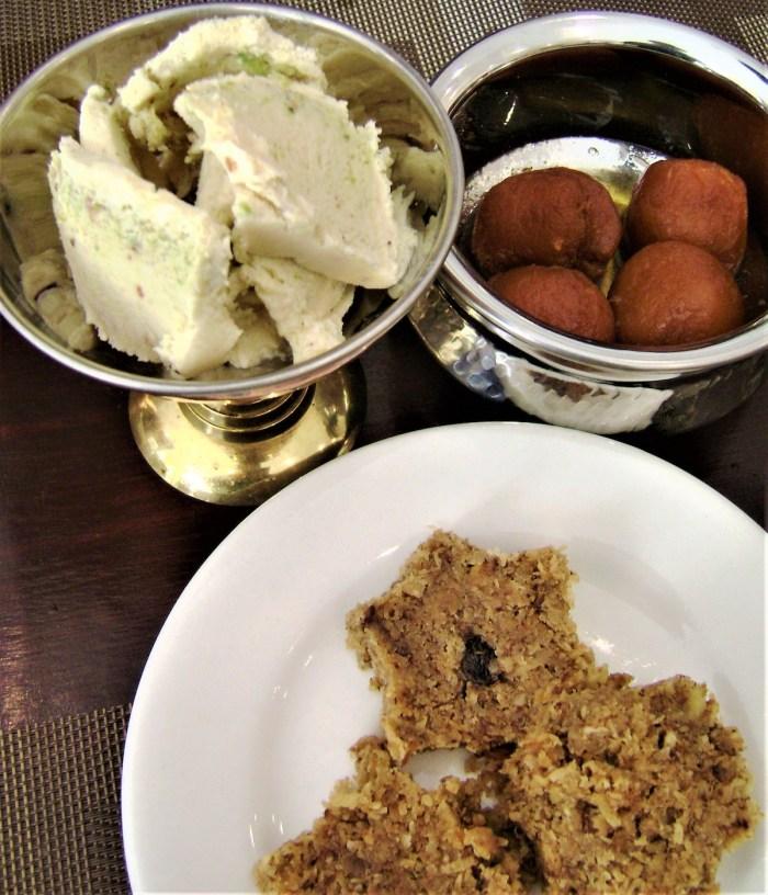 Desserts - kulfi, gulab jamun, burfi
