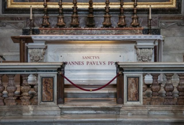 Pope John Paul II's tomb.